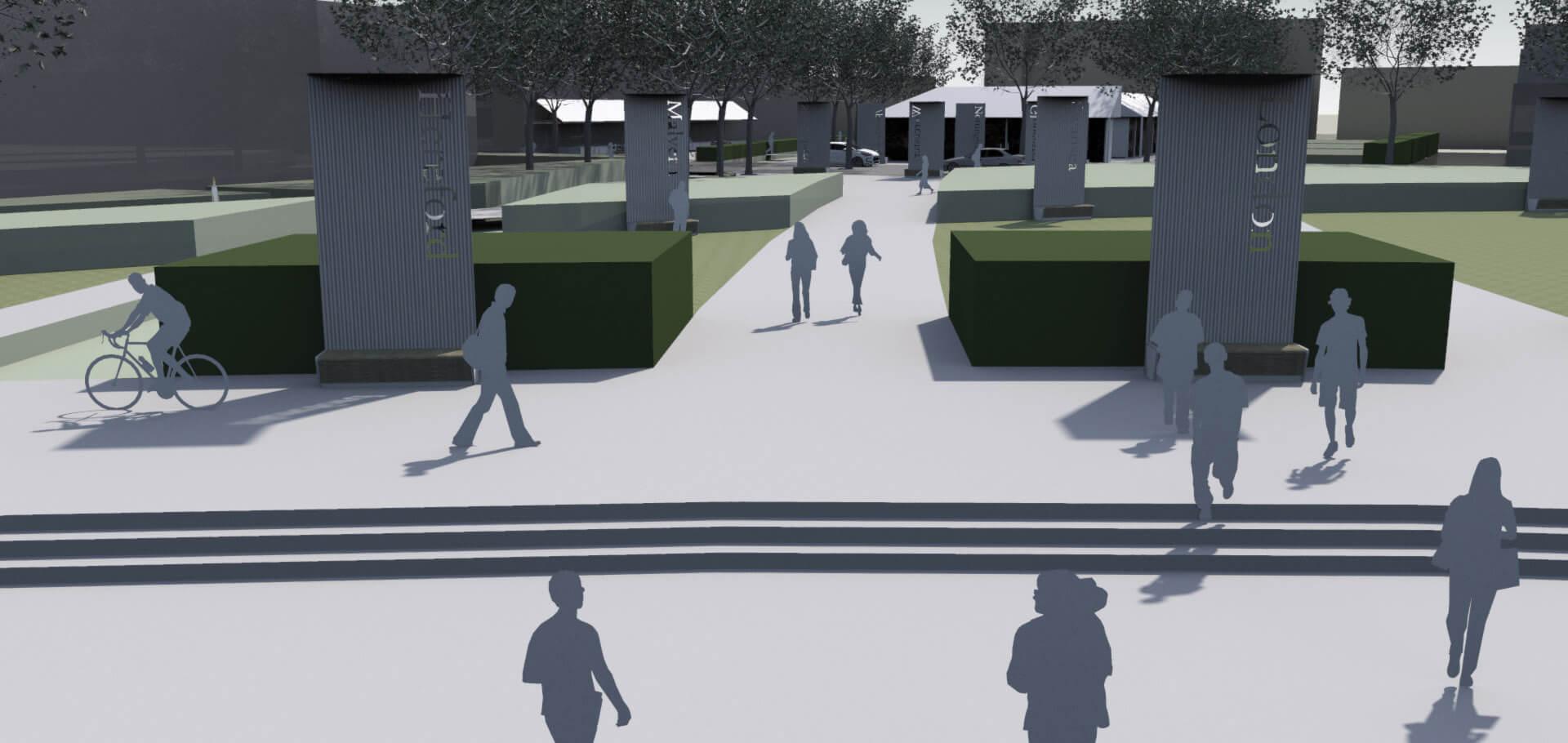 A thriving urban transport hub in Cheltenham